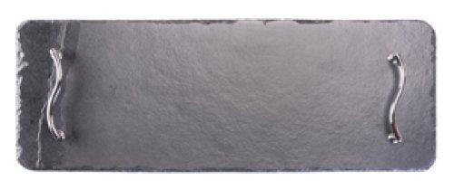Plateaux en ardoise rectangulaire 50 x 17 cm Plateau de service/Plateau/Planche à fromage, Noir