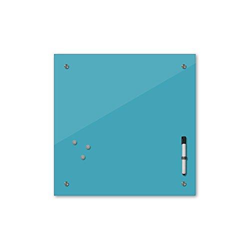 Bilderdepot24 Memoboard 40 x 40 cm, 24 Farben - türkis - Glas - Glasboard - Glastafel - Magnetwand - Pinnwand - Mehrzwecktafel Farbton - Grundfarbe - einfarbige Schreibtafel