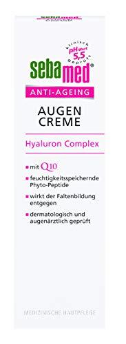 Sebamed Anti-Ageing Augencreme Q10 | Augenpflege mit Hyaluronsäure & Phyto-Peptiden gegen Falten | Anti-Falten Augen Creme für Frauen, Inhalt 15 ml