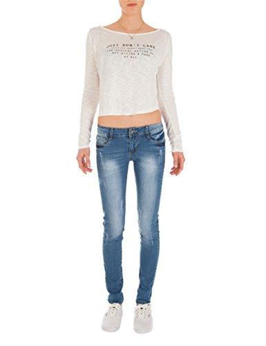 Fraternel Damen Jeans Skinny Hüftjeans blau Blau