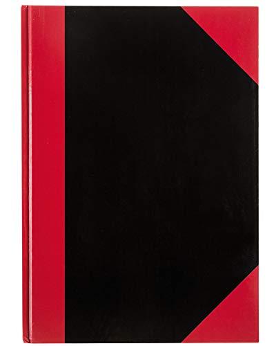Idena 10146 - Kladde DIN A4, 192 Seiten, 70 g/m², kariert, Cover rot-schwarz, 1 Stück