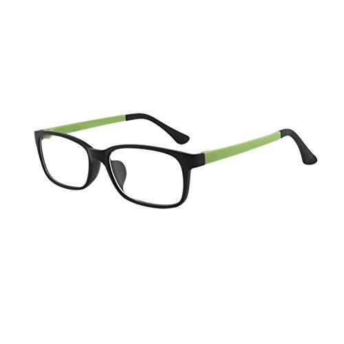 Haodasi Nouveau Unisexe Ultra léger Lunettes optiques Plein Cadre Clair Lentille Lunettes Sand Black Green