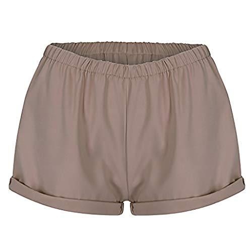 TIMEMEAN Volltonfarbe Freizeit Strand Shorts Damen Bekleidung Sexy Hohe Taille Design Sommer Kurze Hosen - Synthetische Meersalz