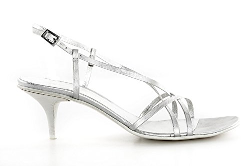 Scarpe donna FRU.IT N.39 argento made in italy sandalo in pelle X2475