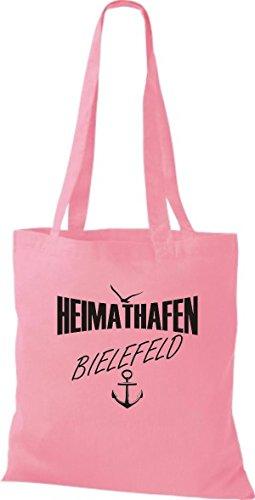 Shirtstown Stoffbeutell Heimathafen Bielefeld Molti Colori Rosa