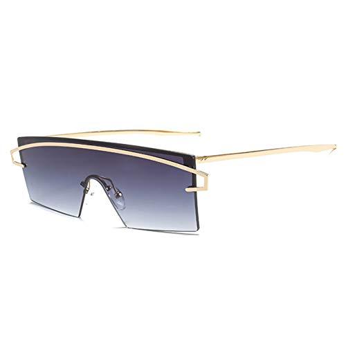 XCTY Sonnenbrillen Women Rimless Sunglasses Fashion Siamese Men Shades Mirror Sun Glasses Uv400