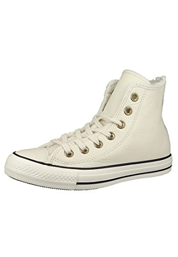 Converse Leather All Star, Unisex - Erwachsene Sneaker Parchment/Black