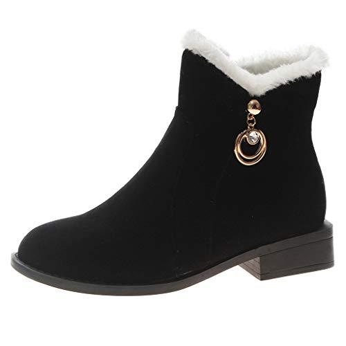 022f68495c9cd Bottes de Neige Femme, Manadlian Bottines en Daim Zipper Mode Chaussures  Boots de Mouton Plat