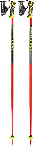 LEKI Erwachsene Worldcup SL-TBS Skistöcke, Red/Black/Yellow, 120