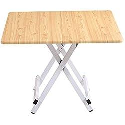ZI LING SHOP- Tabla plegable mesa de artesanía tabla de casa simple tabla cuadrada mesa de comedor pequeña mesa de comedor mesa al aire libre Flower racks ( Color : Amarillo , Tamaño : XXL )