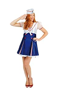 César - Disfraz de marinero para mujer, talla 42-44 (C207-002)