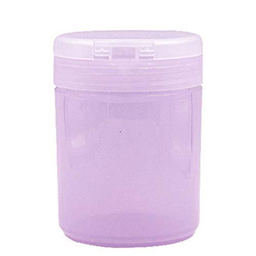 Livecity Nail Cotton Aufbewahrungsbox, Nail Art Gel Nagellackentferner Reinigung Wattepad Tupfer Container Aufbewahrungsbox Lila -