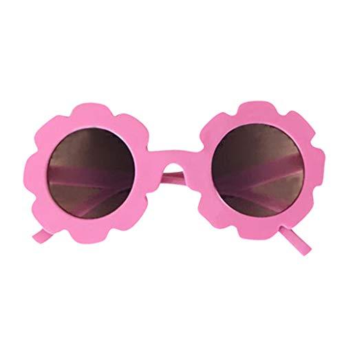 DingLong Baby Kinder Jungen Mädchen Anti-UV-Brille Outdoor Strand Goggle Cartoon Blume Sonnenbrille für 2-12 Jahre (Pink)