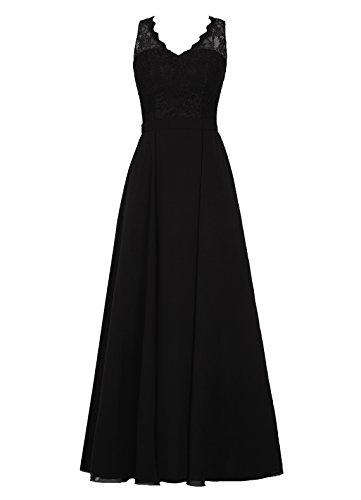 Dresstells Damen Rückenfreie Homecoming Kleider Abendkleider Schwarz