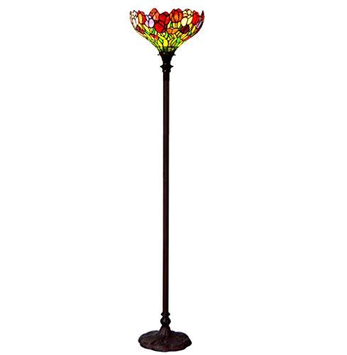 WHS Europäische Retro Antike Lampe, Retro Stehleuchte, Wohnzimmer Schlafzimmer Lampe Tulpen -