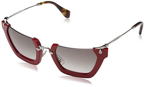 Miu Miu Unisex Wink MU12QS Sonnenbrille, Rot (Red/Silver UA40A7), One size (Herstellergröße: 50)