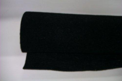 GENERALCAR Moqueta acústica Negra Rollo tamaño 75x
