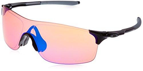 Oakley Herren Evzero Pitch 938304 0 Sonnenbrille, Schwarz (Polished Black/Prizmtrail), 1