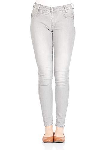 G-Star Damen Jeans D-STAQ 5-pkt Mid Skinny Fit - Grau - Light Aged, Größe:W 27 L 32, Farbe:Light Aged (424) - 5 Pkt Skinny Jean
