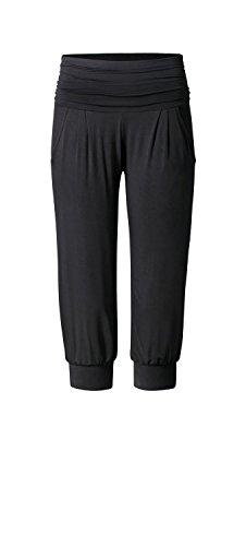 CURARE Damen Loose Capri, Pockets Pants, Black, XS