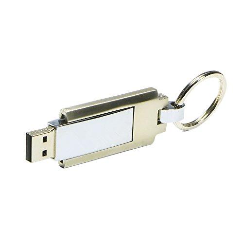 Shooo 16gb girevole a 360gradi in memory stick usb flash drive liscia, con portachiavi, per windows e mac