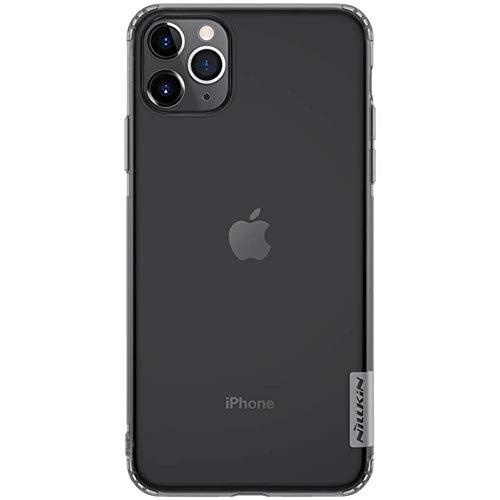 Nillkin Nature - Funda Compatible con iPhone 11 Pro MAX Carcasa de Silicona [Antideslizante] Bumper de Gel TPU [Ultra Fina] Clear View - Transparente