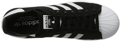 adidas Herren Superstar Sneaker, Blau, 38 EU Schwarz (Cblack/Ftwwht/Cblack)