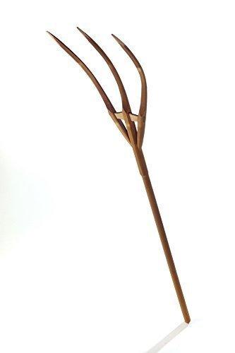 acerto Heugabel aus Buchenholz – 1,60m * Handgefertigt * Geräuchertes Holz