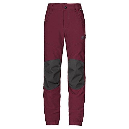 Jack Wolfskin Kinder Rascal Winter Pants Softshell-Hose, Garnet Red, 152