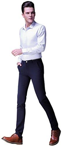 Gillbro pour homme Pantalons d¨¦contract¨¦s extensibles minces Marine