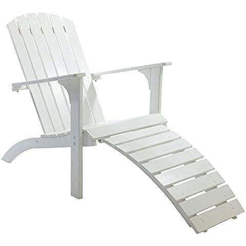 Ambientehome 90084 - Tumbona , color blanco