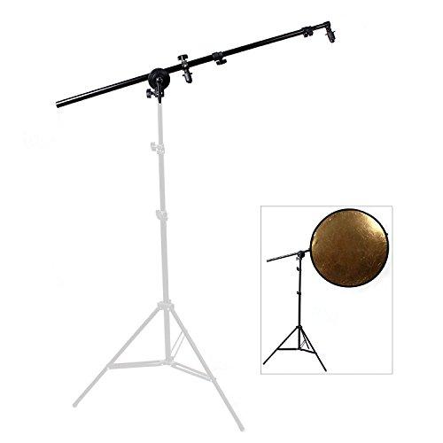 OUBO Reflektorhalter Halterung für runde und eckige Faltreflektor Reflektoren bis 170 cm Studio-Reflektor … (Aluminium-arm-set)