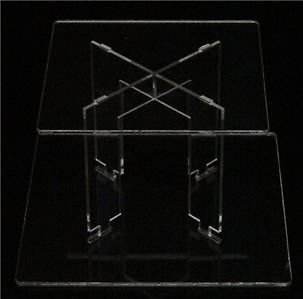 2 Tier Square Acrylic Cup Cake Party Wedding Stand - TK2SQU