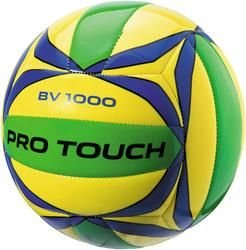 Pro Touch Beach-Volleyball BV-1000 Beachvolleyball, Gelb/Blau/Grün, One Size
