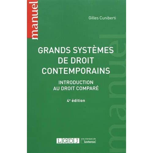 Grands systèmes de droit contemporains : Introduction au droit comparé