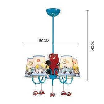 Jungen Cartoon Auto Schlafzimmer Kronleuchter Lampe Mediterraner Kid 's Room Anhänger Leuchten Kinder Pendelleuchte - 6