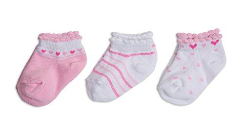 Baby Sneaker Söckchen, 3er Pack, Farbe:rosa;Größe:62/68