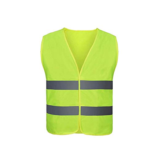 Katurn Auto Warnweste, Gelb Reflektierend 360 ° Sicherheitswesten, Kfz Warnweste, Motorradwesten, Knitterfrei, Standardgröße