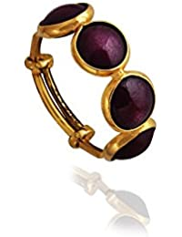 Lagu Bandhu 18KT Yellow Gold And Ruby Ring For Women