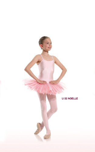Balletttrikot mit Tütü Modell Noelle in verschiedene Farben Hellrosa