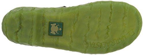 El Naturalista Nw095 P.Grain Lila / Yggdrasil, Scarpe Basse Donna Nero (Schwarz (Black-Green))