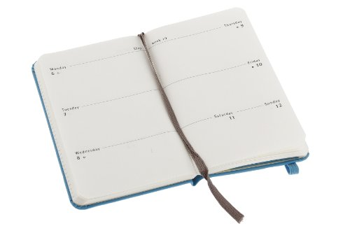 Best Price 2013 Moleskine Extra Small Sky Blue Weekly Horizontal Review