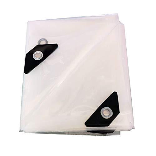 CHAOXIANG Lona De Protección Cubre El Viento Protección contra La Lluvia Más Grueso Resistente Al Desgaste Transparente Tela De Plastico PVC 24 Tallas, Personalizable