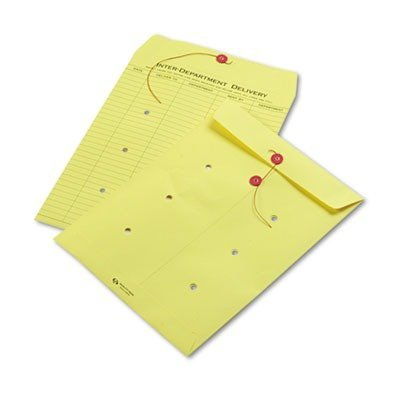 QUA63576 - Colored Paper String amp; Button Interoffice Envelope by Quality Park