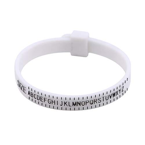 Bigsweety Tragbare Ring Sizer Messen Finger Gauge Ring Band Genuine Tester Messwerkzeug Für Hochzeit (Stil 1) (Hochzeit Band Ring-sizer)