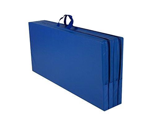 Cannons UK-Blue Tapis de gymnastique pliant 2,4 m x 1,2 m x 50 mm