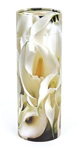 Urns Uk Scattering Ashes Tube Peace Lilies, Medium, 120