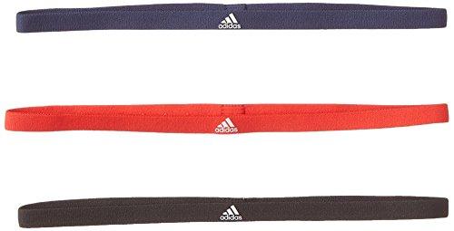 adidas 3PP Hairband Haar-Tapes, Herren Einheitsgröße Rot (roalre/indnob/Weiß) (Pack 3-pair White)