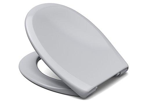 """Cedo WC Sitz """"Kapalua Beach"""" In Manhattan Grau mit Absenkautomatik Softclose Classic® , abnehmbar mit TakeOff Original® Abnahmefunktion; aus Duroplast für ovale Keramiken mit"""