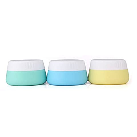 Mudder Silicone Cosmetic Containers Cream Jar with Sealed Lids, 3
